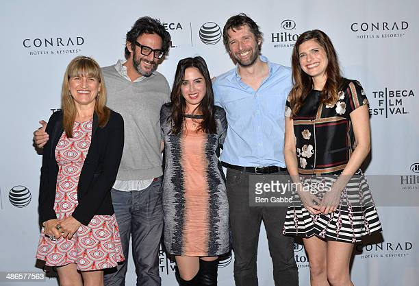 Catherine Hardwicke Ben Younger Talya Lavie Bart Freundlich and Lake Bell attend the TFF Awards Night during the 2014 Tribeca Film Festival at Conrad...