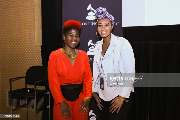 Catherine HarrisWhite and ParisAlexa pose for a photo at the GRAMMYPro Songwriter's Summit at Museum of Pop Culture on April 30 2017 in Seattle...