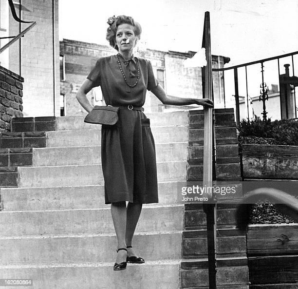NOV 1981 DEC 13 1981 Catherine Harvey showed '40s rust crepe dress with '80s puff sleeve $20 left below Tina Hall's redblackwhite linedlike '50s...