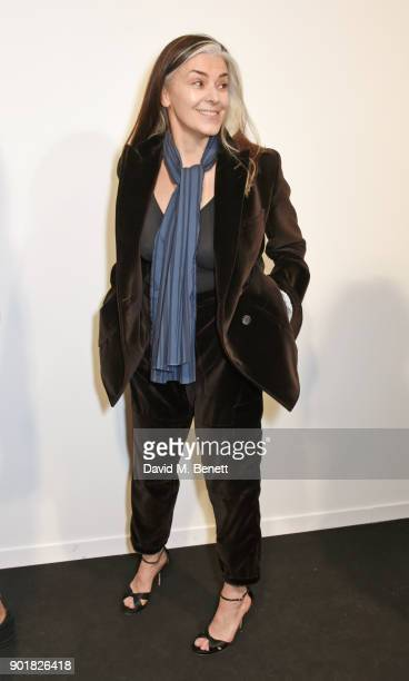 Catherine Hayward poses backstage at the Oliver Spencer LFWM AW18 Catwalk Show at the BFC Show Space on January 6 2018 in London England