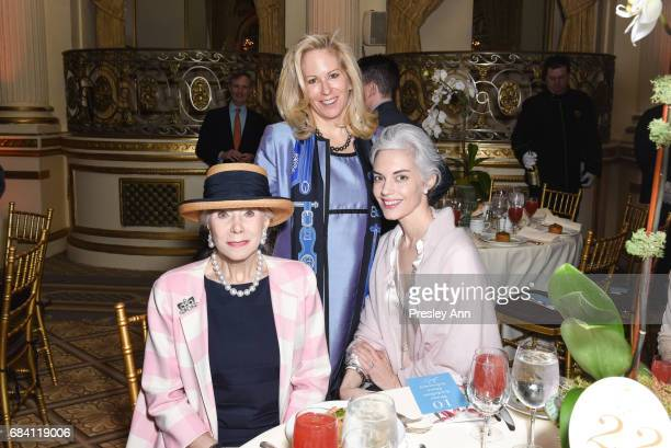 Catherine Heald and Cordelia Dietrich Zanger attend Audubon's 14th Annual Women In Conservation Luncheon at The Plaza on May 16 2017 in New York City