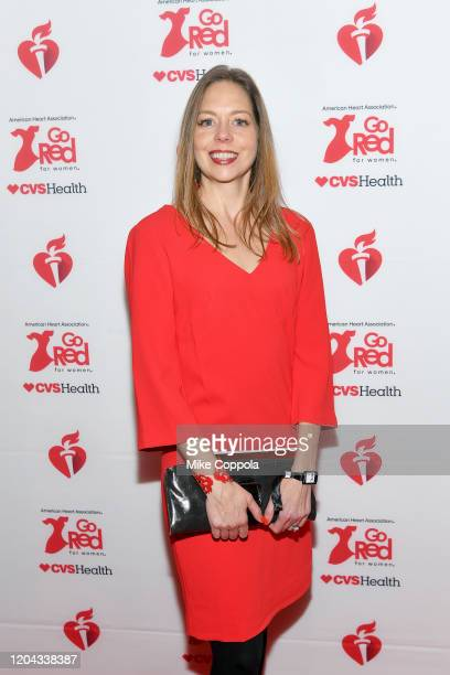 Catherine Higgins Whiteside attends The American Heart Association's Go Red for Women Red Dress Collection 2020 at Hammerstein Ballroom on February...