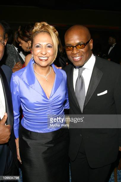 Catherine Hughes and Antonio LA Reid during Associated Black Charities Proudly Presents the 2003 Black History Makers Awards at New York Marriott...