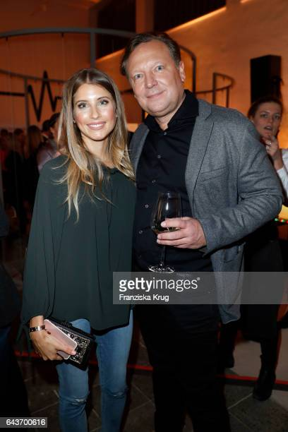 Catherine Hummels and Oliver Kastalio CEO Rodenstock attend the Rodenstock Exhibition Opening Event at Museum of Urban and Contemporary Art in Munich...