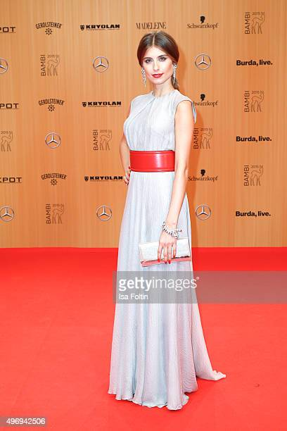 Catherine Hummels attends the Kryolan At Bambi Awards 2015 Red Carpet Arrivals on November 12 2015 in Berlin Germany