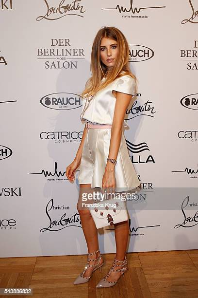 Catherine Hummels attends the presentation of the Rauch Happy Day Limited Edition designed by Marina Hoermanseder ahead of the Marina Hoermanseder...