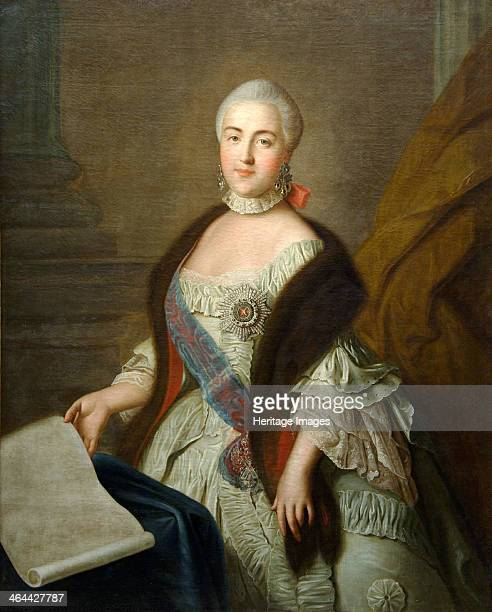 Catherine II as Grand Duchess Ekaterina Alekseyevna' 1762 Argunov Ivan Petrovich Found in the collection of the State Museum of Ceramics and Country...
