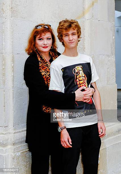 Catherine Jacob and AlexTaschino pose during the photocall of 'La Famille Katz' at 15th Festival of TV Fiction on September 14 2013 in La Rochelle...