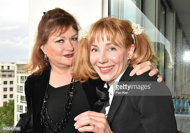 Catherine Jacob and Julie Depardieu attend 'Les Nuits en Or 2016' Dinner Gala Photocall at Unesco on June 13 2016 in Paris France