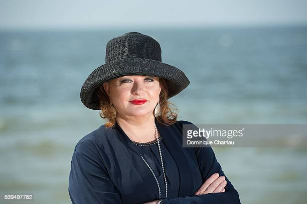 Catherine Jacob attends a photocall during the 30th Cabourg Film Festival on June 11 2016 in Cabourg France