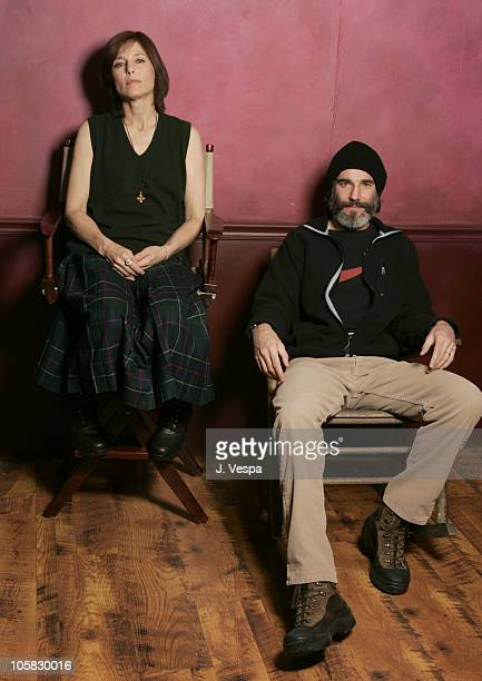 Catherine Keener and Daniel DayLewis during 2005 Sundance Film Festival 'The Ballad of Jack and Rose' Portraits at HP Portrait Studio in Park City...
