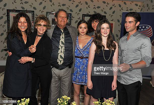 Catherine Keener Jane Fonda Bruce Beresford Elizabeth Olsen Nat Wolff Marissa O'Donnell and Chace Crawford attend a screening of Mao's Last Dancer at...