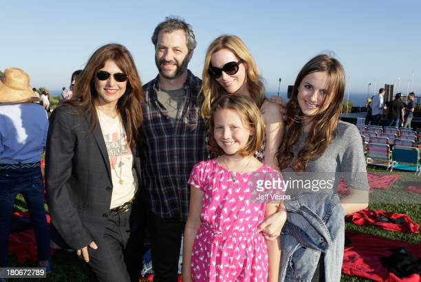 Catherine Keener Judd Apatow Leslie Mann Iris Apatow and Maude Apataow attend ddie Vedder and Zach Galifianakis Rock Malibu Fundraiser for EBMRF and...