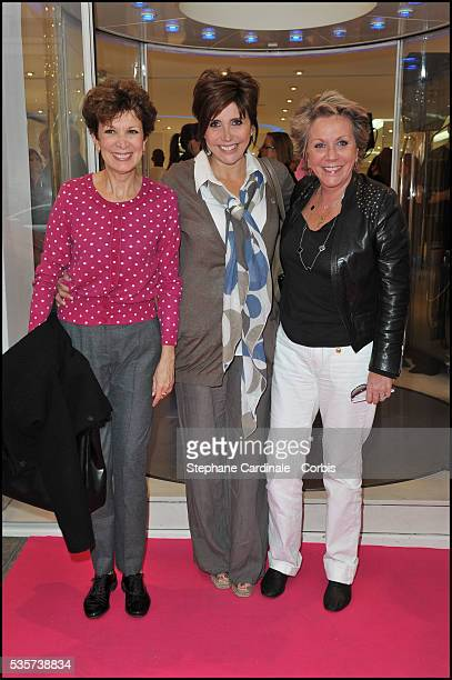 Catherine Laborde Liane Foly and Francoise Laborde attend the Courreges Party during the Vogue Fashion's Night in Paris