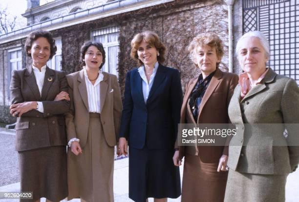Catherine lalumière Edwige Avice Edith Cresson et Yvette Roudy dans les années 80 à Paris France Circa 1980