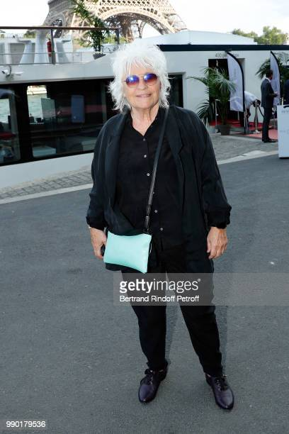 "Catherine Lara attends ""Line Renaud's 90th Anniversary"" on July 2, 2018 in Paris, France."