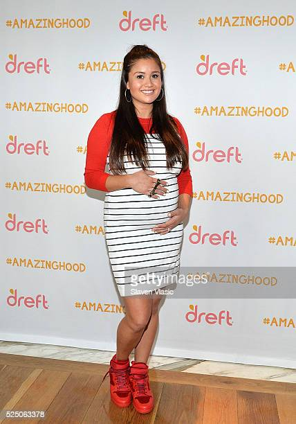 Catherine Lowe from 'The Bachelor' who is due in July celebrate her #Amazinghood baby shower with an baby shower presented by Dreft at Gansevoort...