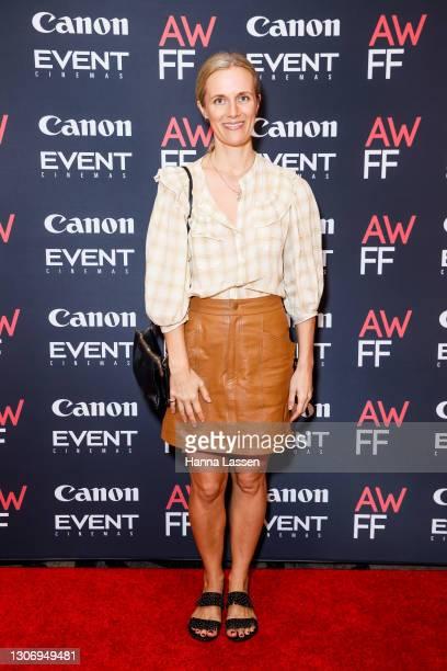 Catherine Mack attends Australian Woman's Film Festival Launch 2021 on March 14, 2021 in Sydney, Australia.