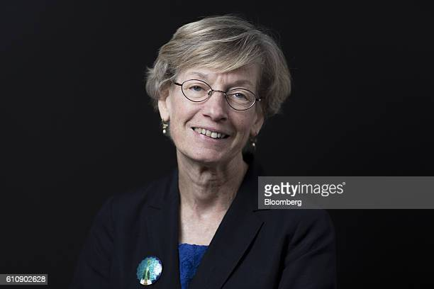 Catherine Mann chief economist at the Organization for Economic Cooperation and Development poses for a photograph at the Bloomberg Markets Most...