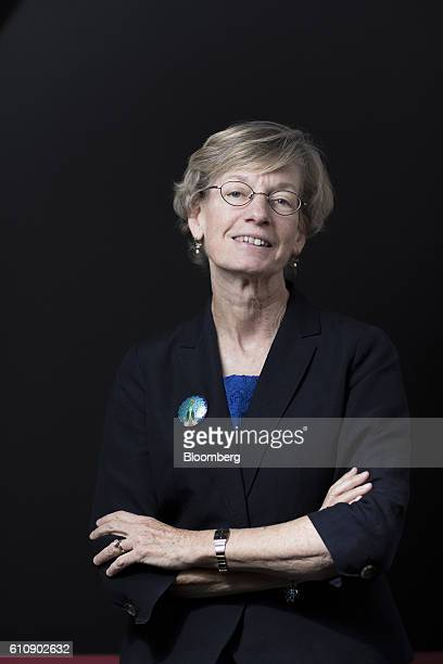 Catherine Mann, chief economist at the Organization for Economic Cooperation and Development , poses for a photograph at the Bloomberg Markets Most...
