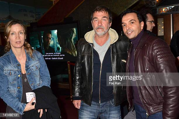 Catherine Marchal Olivier Marchal and Kamel Ouali attend 'Le Cirque Eloize' VIP Premiere At Le Grand Rex on March 17 2012 in Paris France