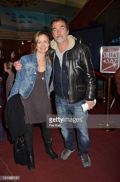 Catherine Marchall et Olivier Marchal attend 'Le Cirque Eloize' VIP Premiere At Le Grand Rex on March 17 2012 in Paris France