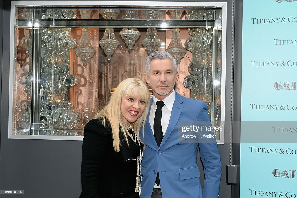 Catherine Martin, Academy Award winning costume and production designer and Baz Luhrmann, director/producer/co-writer of 'The Great Gatsby' attend the unveiling of Tiffany's Fifth Avenue windows celebrating Jazz Age glamour, evoking the spirit of Baz Luhrmann's highly anticipated adaptation of 'The Great Gatsby' on April 17, 2013 in New York City.