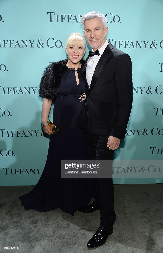 Catherine Martin, Academy Award winning costume and production designer wearing Diamonds from the Tiffany & Co. 2013 Blue Book Collection and Baz Luhrmann, director/producer/co-writer of 'The Great Gatsby' attend the Tiffany & Co. Blue Book Ball at Rockefeller Center on April 18, 2013 in New York City.