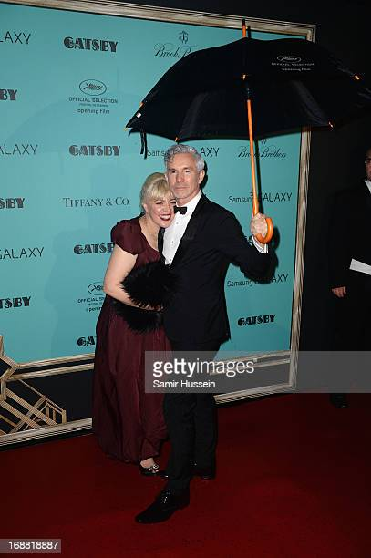 Catherine Martin and Baz Luhrmann attend 'The Great Gatsby' Party during the 66th Annual Cannes Film Festival at the Quai Lauboeuf on May 15 2013 in...