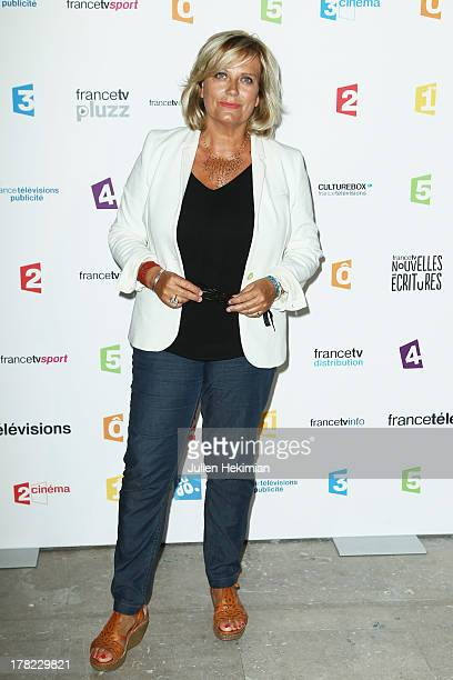 Catherine Matausch attends 'La Rentree France Televisions' at Palais De Tokyo on August 27 2013 in Paris France