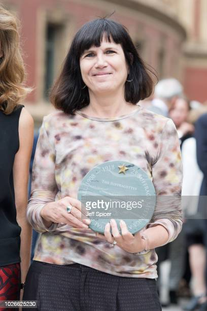 Catherine Mayer attends the launch of the Royal Albert Hall 'Walk Of Fame' at Royal Albert Hall on September 4 2018 in London England