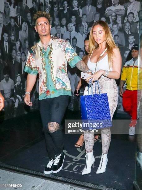 Catherine McBroom and Austin McBroom are seen on May 17 2019 in Los Angeles California