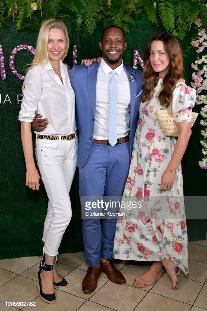 Catherine McCord Barry White and Ali Safran attend Adina Reyter Friendship Bracelet Launch at Soho House on July 26 2018 in West Hollywood California