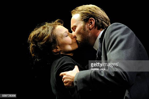 """Catherine McCormack and Oliver Chris perform in Henry James's play """"The Portrait of a Lady"""" at the Theatre Royal in Bath."""