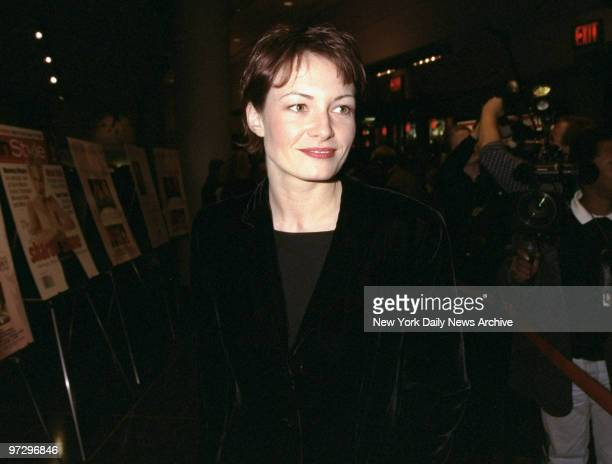 Catherine McCormack arrives at the Sony Lincoln Square Theater for the premiere of the movie Dancing at Lughnasa McCormack stars in the film cormack...