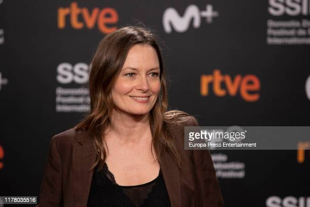 Catherine McCormack attends the red carpet on the closure day of 67th San Sebastian International Film Festival on September 28, 2019 in San...