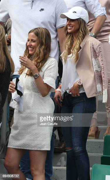 Catherine McDonnell and Maria Llorente attend Rafael Nadal's victory on day 15 of the 2017 French Open second Grand Slam of the season at Roland...