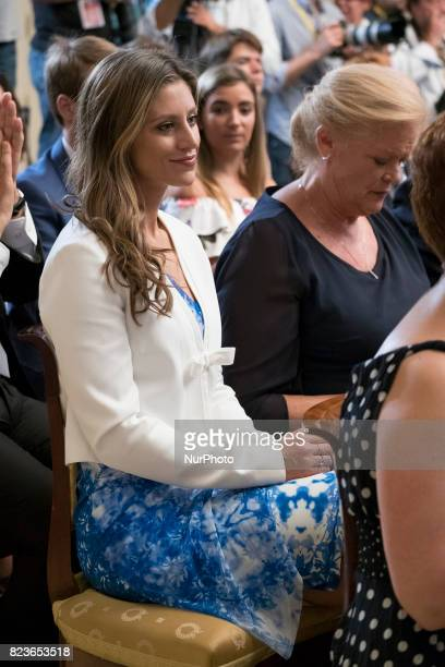 Catherine McDonnell attends the 'Medals to Merit in Work' delivery at Moncloa palace July 27 2017 in Madrid Spain