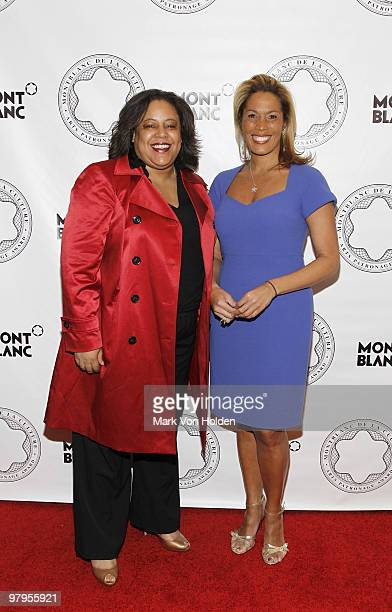 Catherine McKenzie and Kemberly Richardson attend the Montblanc de la Culture Arts Patronage Award honoring Judith Jamison at the Alvin Ailey...