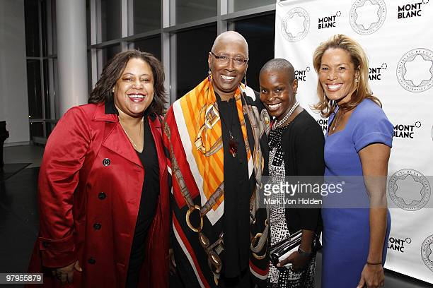 Catherine McKenzie Artistic director Alvin Ailey American Dance Theater/Honoree Judith Jamison Alvin Ailey dancer Hope Boykin and Kemberly Richardson...