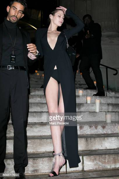 Catherine McNeil attends Vogue Party as part of the Paris Fashion Week Womenswear Spring/Summer 2018 at on October 1 2017 in Paris France