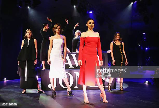 Catherine McNeil Montana Cox and Jessica Gomes showcase designs by Camilla and Marc on the runway at the David Jones Autumn/Winter 2016 Fashion...