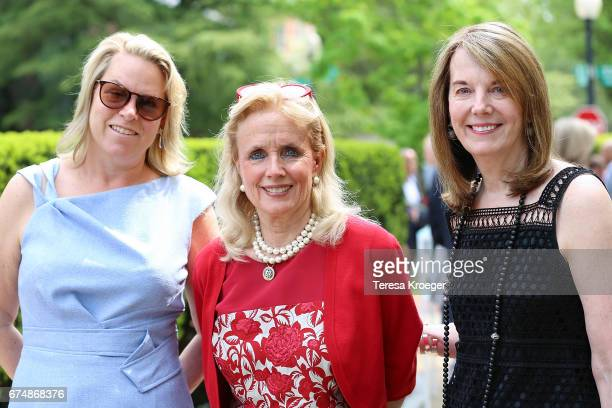 Catherine Merrill Williams Rep Debbie Dingell and Carol Milton attend the Garden Brunch hosted by Tammy Haddad ahead of the White House...