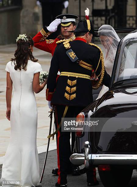 Catherine Middleton arrives to attend the Royal Wedding of Prince William to Catherine Middleton at Westminster Abbey on April 29 2011 in London...