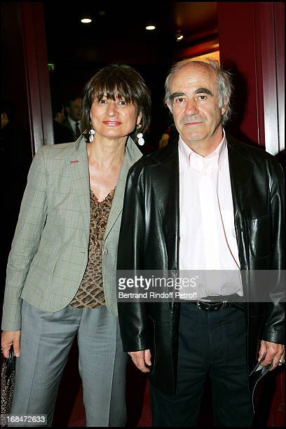 Catherine Millet and her husband Jacques Henric at Arielle Dombasle Performs Songs From Her Album 'Amor Amor' At The Olympia In Paris