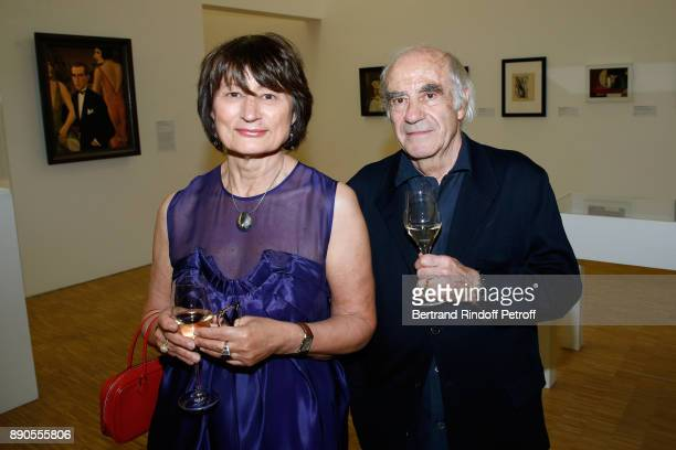 Catherine Millet and Jacques Henric attend the Cesar Retrospective at Centre Pompidou on December 11 2017 in Paris France