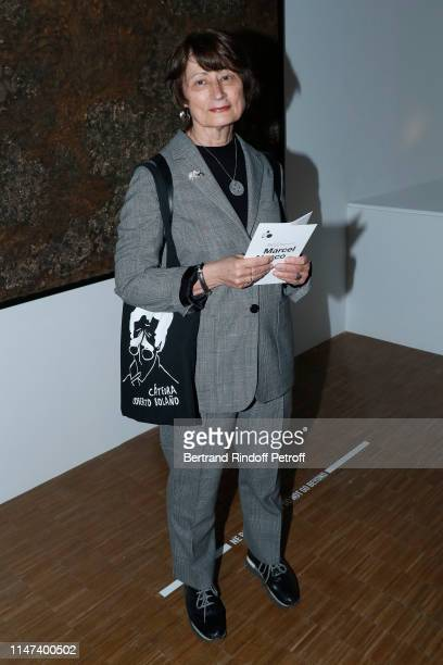 Catherine Millet attends the Prehistoire une enigme moderne Exhibition at Centre Pompidou on May 06 2019 in Paris France