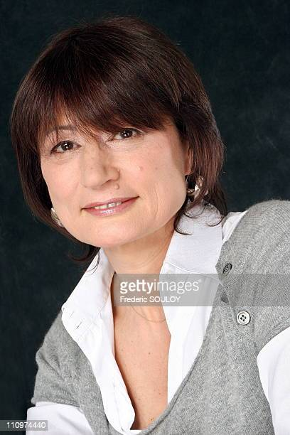 Catherine Millet in Tv talk show Campus hosted by Guillaume Durand in Paris France on February 24th 2006
