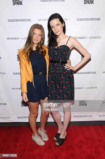 Catherine Missal and Bodine Boling attend the Movement Location NYC Premiere on September 18 2015 in New York City