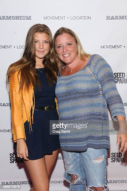 Catherine Missal and guest attend the Movement Location NYC Premiere on September 18 2015 in New York City